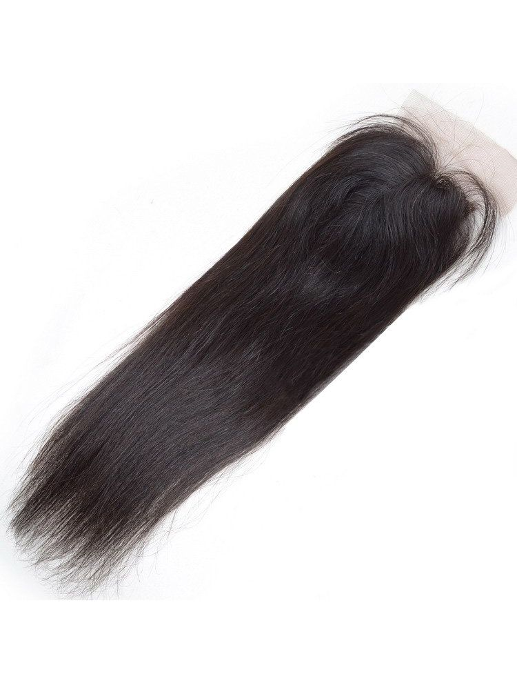 "Wholesale Virgin Indian Remy Straight 4"" x 4"" Lace Closure"