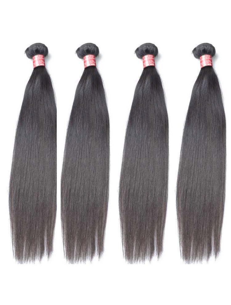 Quadruple Quarry Virgin Peruvian Remy Natural Straight (4 Bundles)