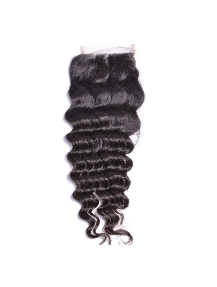 "Wholesale Virgin Malaysian Remy Curly 4"" x 4"" Lace Closure"