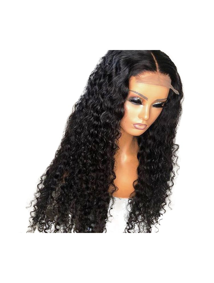 HD Transparent Virgin Brazilian Natural Curly Lace Front Wig