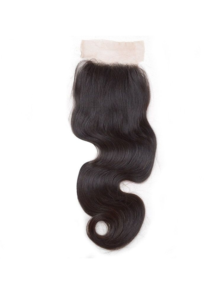 "Wholesale Virgin Indian Remy Natural Wave 4"" x 4"" Lace Closure"