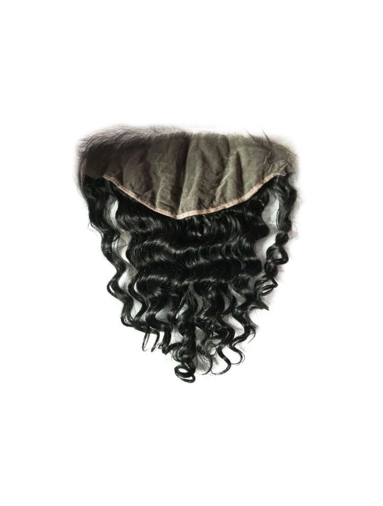 "Virgin Malaysian Remy Curly 13""X6"" Lace Frontal"
