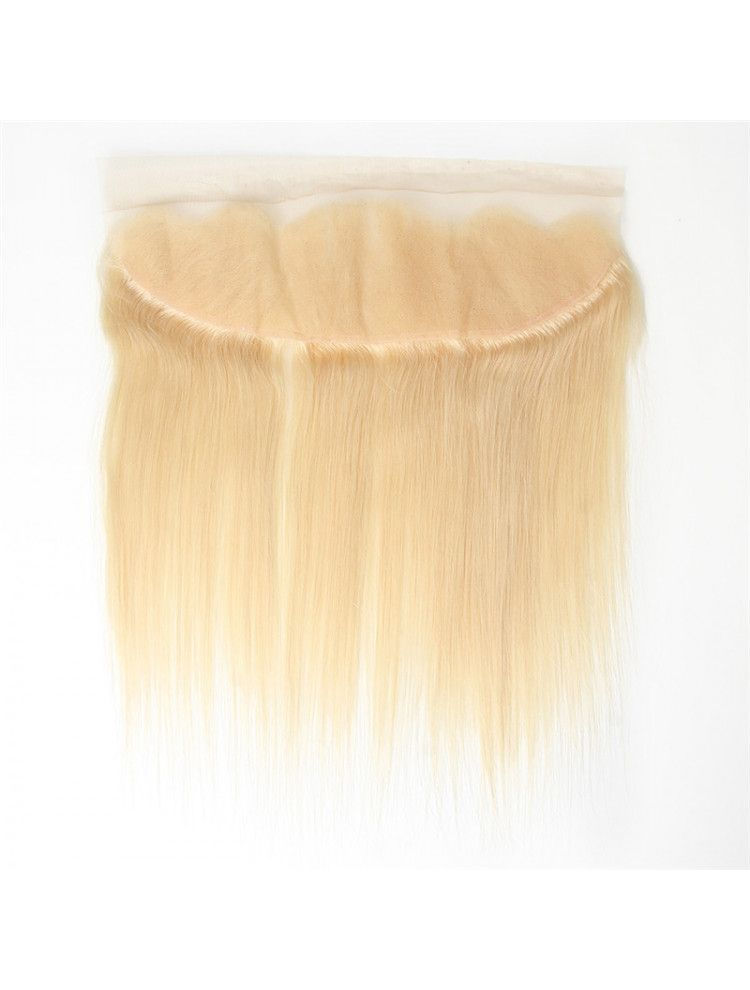 "Virgin European Remy Natural Straight 13"" x 4"" Lace Frontal"
