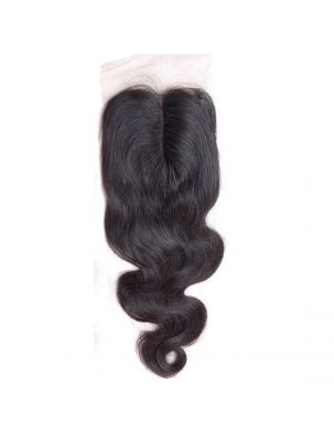 "Virgin Brazilian Remy Natural Wave 4"" x 4"" Lace Closure"