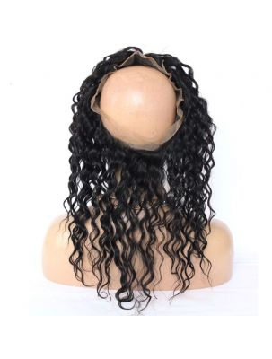 Virgin Brazilian Remy Curly 360 Lace Frontal