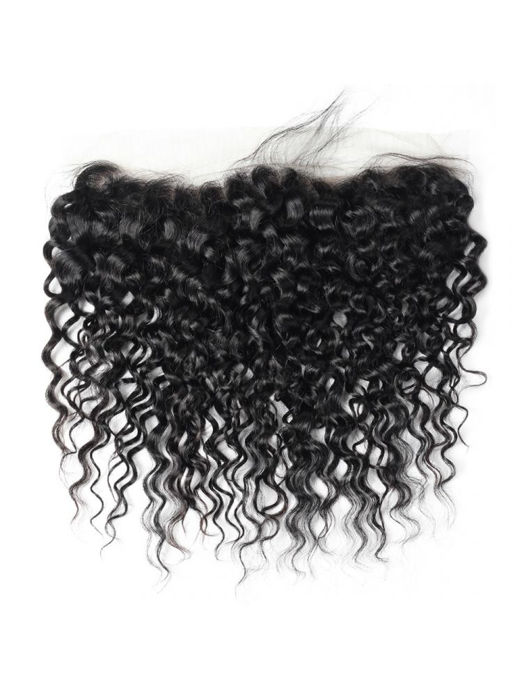 """Virgin Brazilian Remy Curly 13"""" x 4"""" HD Transparent Lace Frontal"""
