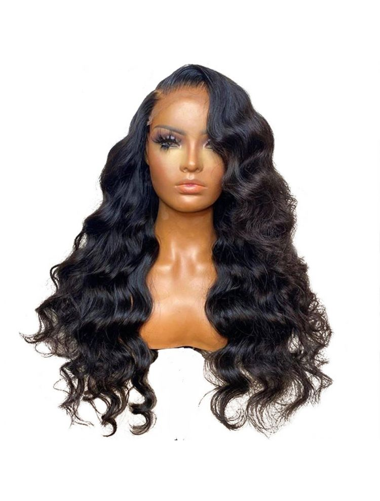 HD Transparent Virgin Brazilian Natural Wave Lace Front Wig