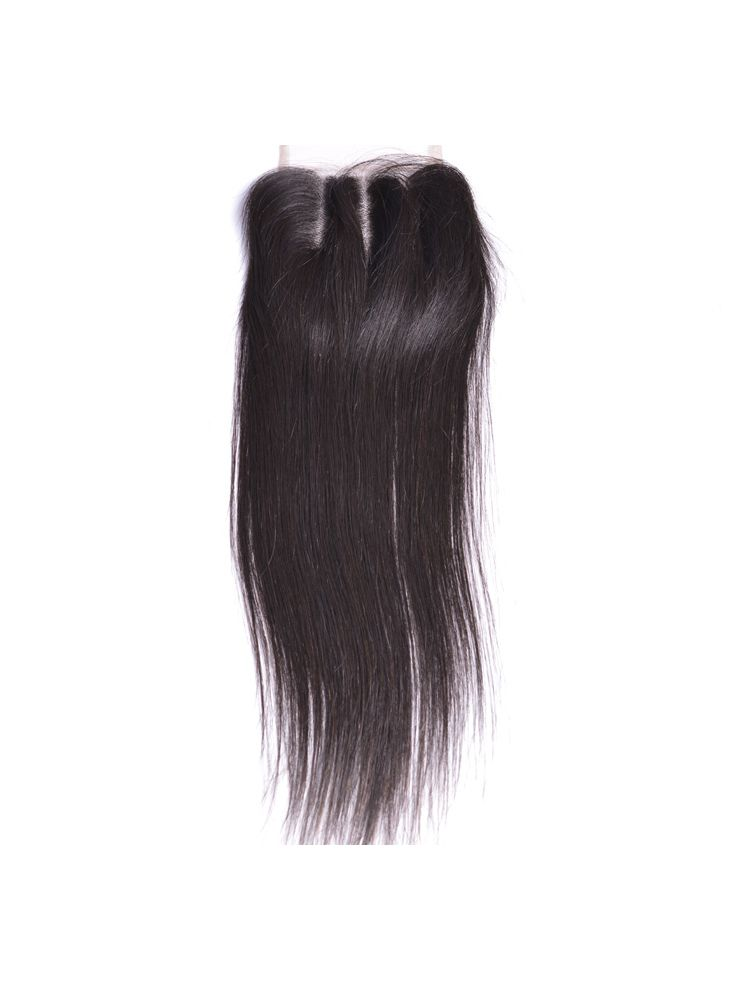 "Wholesale Virgin Brazilian Remy Straight 4"" x 4"" Lace Closure"