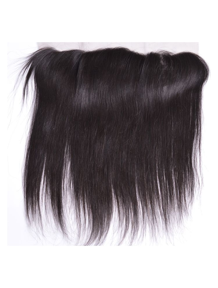 "Virgin Brazilian Remy Straight 13"" x 4"" Lace Frontal"