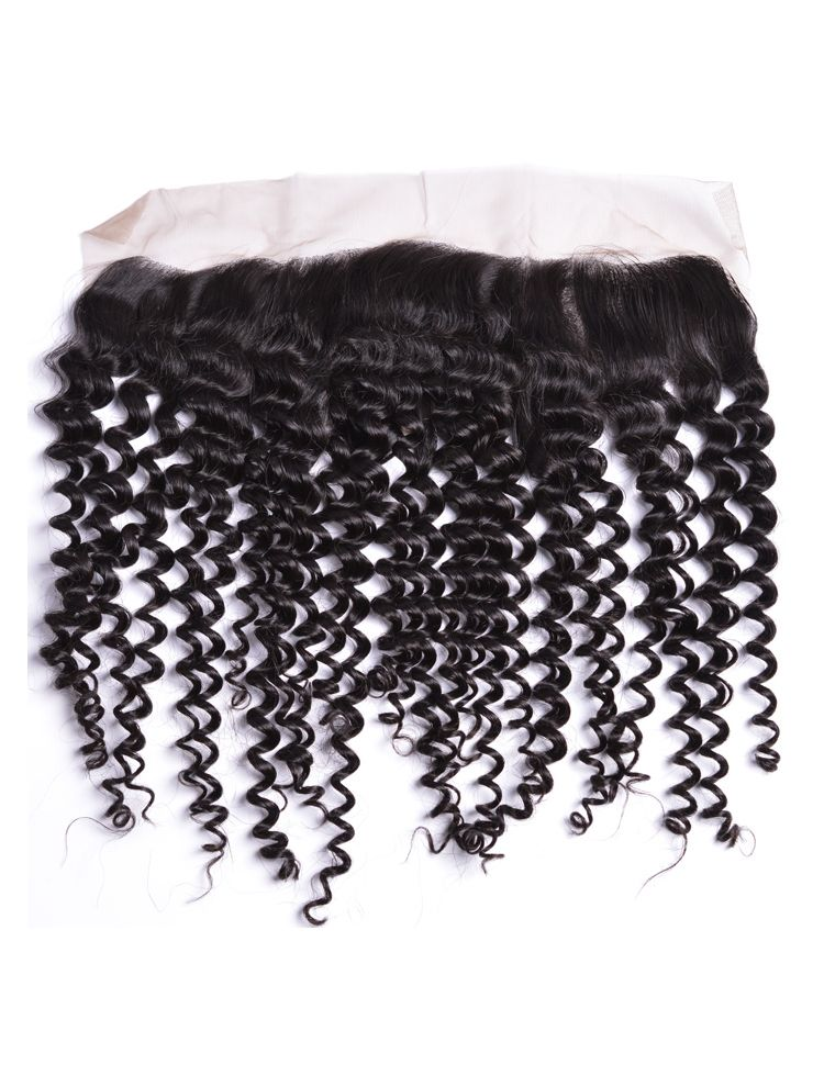 "Wholesale Virgin Mongolian Remy Curly 13"" x 4"" Lace Frontal"