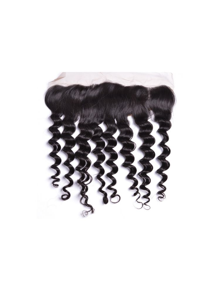 "Wholesale Virgin Brazilian Remy Curly 13"" x 4"" Lace Frontal"