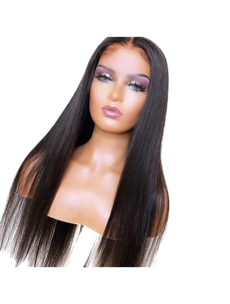 HD Transparent Virgin Brazilian Natural Straight Lace Front Wig