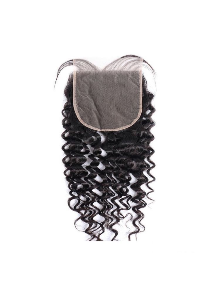 "Virgin Brazilian Remy Curly 7"" x 7"" Lace Closure"
