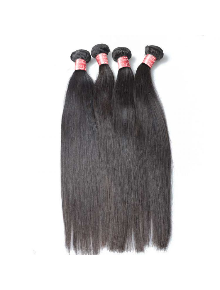 Quadruple Quarry Virgin Indian Remy Straight Hair (4 Bundles)