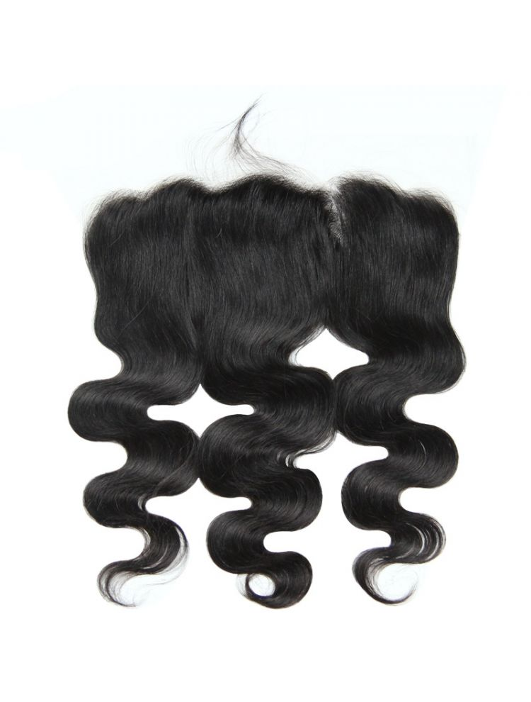 "Virgin Brazilian Remy Natural Wave 13"" x 4"" HD Lace Frontal"