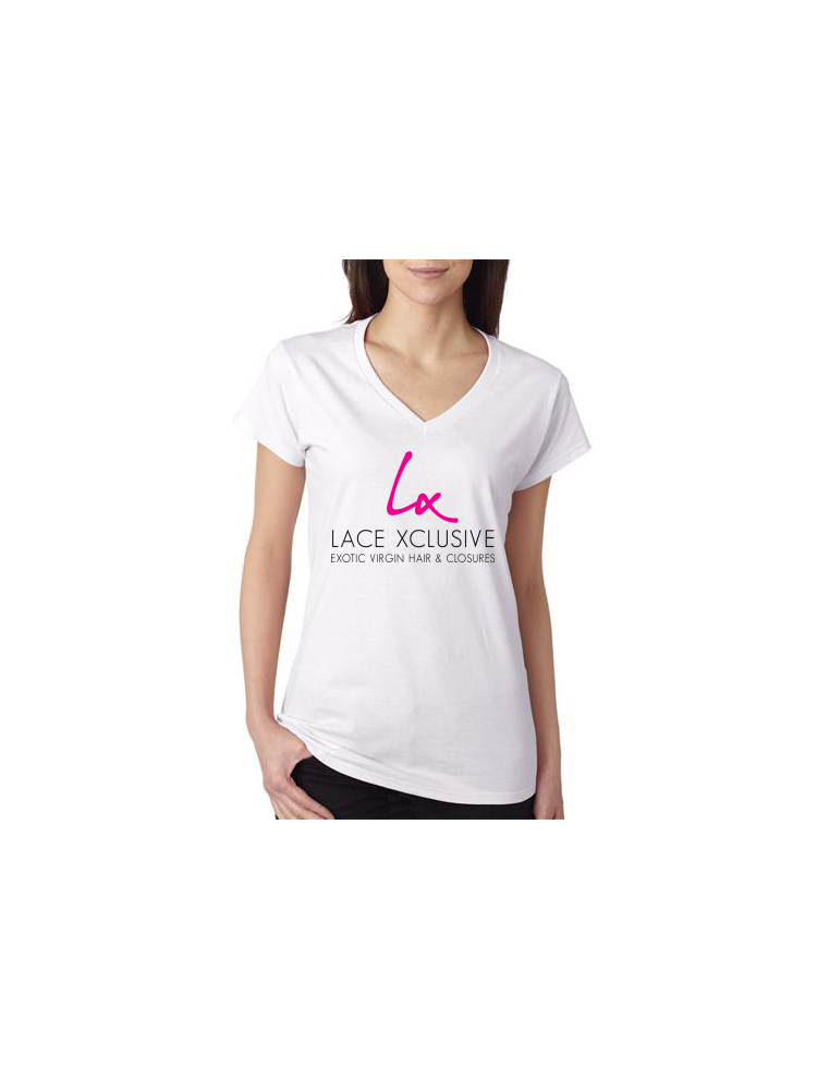 Lace Xclusive V-Neck Tee