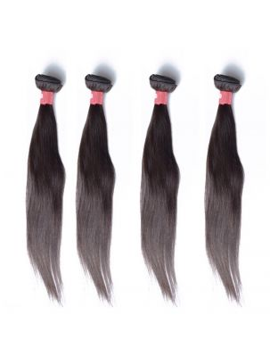 Quadruple Quarry Virgin Malaysian Remy Natural Straight (4 Bundles)