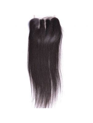 "Virgin Brazilian Remy Straight 4"" x 4"" Lace Closure"