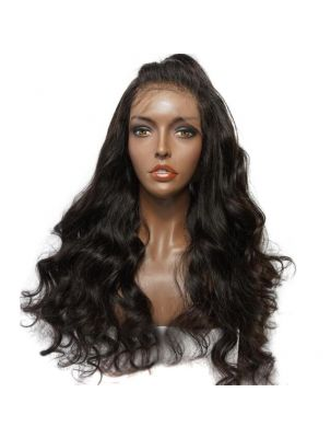 Genevieve Virgin Brazilian Natural Wave Custom Lace Front Wig