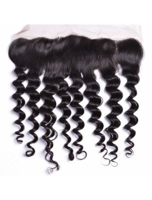 "Virgin Brazilian Remy Curly 13"" x 4"" Lace Frontal"
