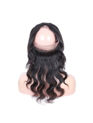 Virgin Brazilian Remy Natural Wave 360 Lace Frontal
