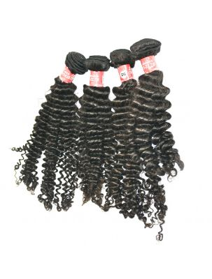 Quadruple Quarry Virgin Malaysian Remy Curly (4 Bundles)