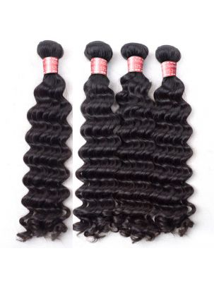 Quadruple Quarry Virgin Indian Remy Curly Hair (4 Bundles)