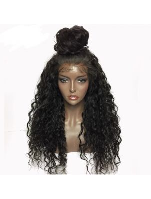 Virgin Indian Curly Lace Front Wig